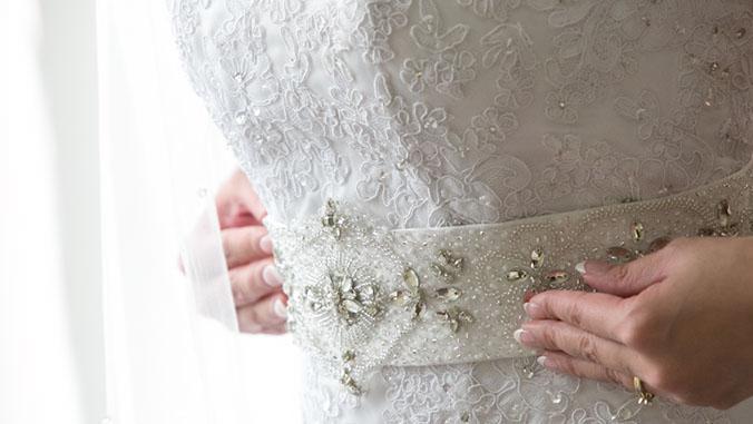Wedding Dress Fabric Sample Lace Beading