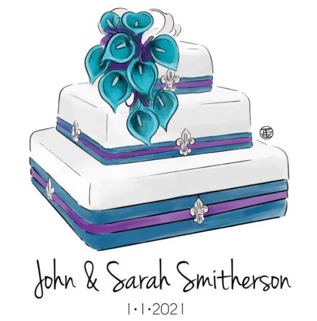 Wedding Cake Illustration Sketch